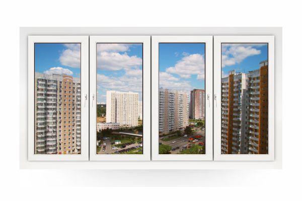 Остекление прямой лоджии в Москве и МО