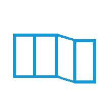 """Схема остекления балкона """"Каблук"""""""