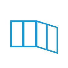 """Схема остекления балкона """"Лодочка"""""""