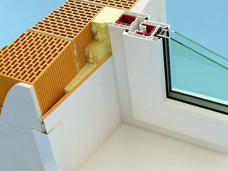 Монтаж пластиковых откосов на окнах ПВХ