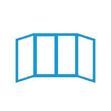Схема остекления П-образного балкона