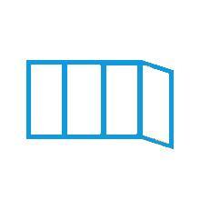 Схема остекления углового балкона