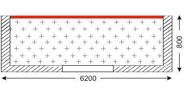 Схема лоджии в домах серии 1605-9/12
