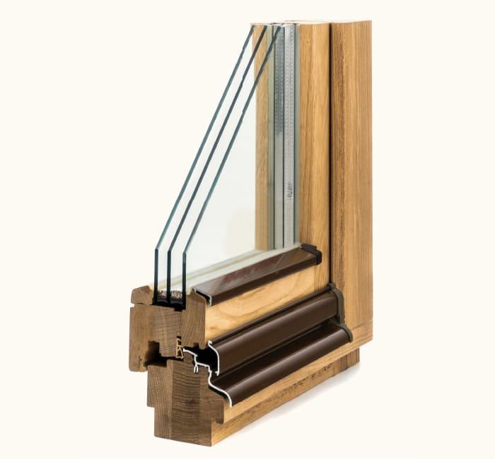 Заказать деревянные окна из дуба