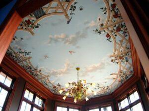 Художественные натяжные потолки купить в Москве