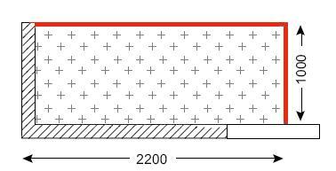 Схема лоджии в домах типа П-3