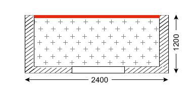 Схема лоджии в доме серии П-30