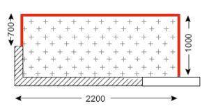 Схема лоджии в домах серии П-3