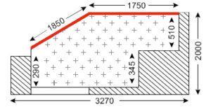 Схема лоджии в доме типа П-3М