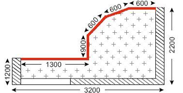 Схема лоджии дома типа П-3М