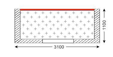 Схема лоджии в домах серии П-43