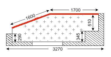 Схема лоджии в домах серии П-44