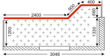 Схема лоджий в домах П-44