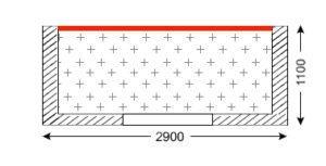 Схема лоджии в доме серии П-46