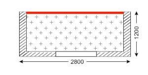 Схема лоджии в домах серии П-46М