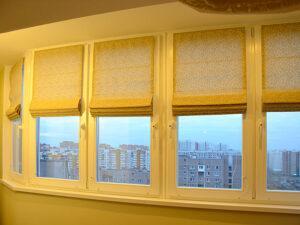 Заказать римские рулонные шторы в Москве и МО