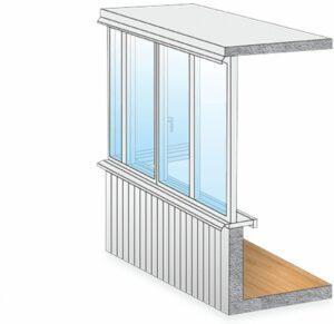 Остекление балконов и лоджий без выноса в Москве и МО