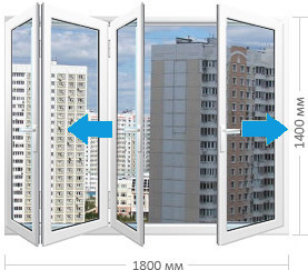 Сдвижные складные панорамные окна заказать в Москве