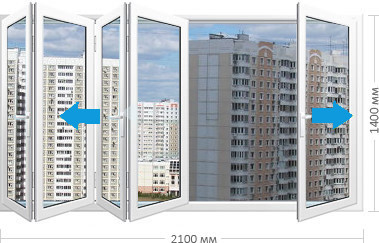 Сдвижные складные панорамные окна ПВХ заказать в Москве