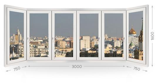 Остекление п-образного балкона в Москве и МО