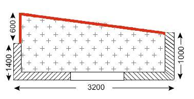 Схема балкона в доме I-515/9Ш