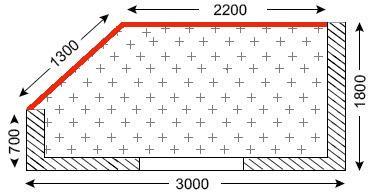 Схема лоджии в домах типа И-155