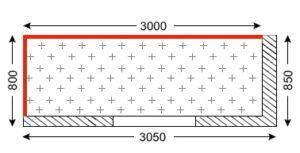 Схема лоджии в домах серии И-155