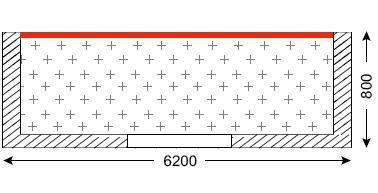 Схема лоджии в домах серии II-68