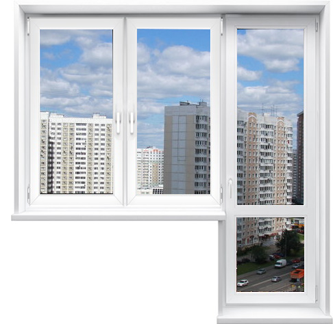 Заказать готовый выход на балкон без монтажа в Москве и Московской области