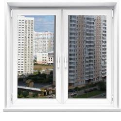 Купить двухстворчатые окна