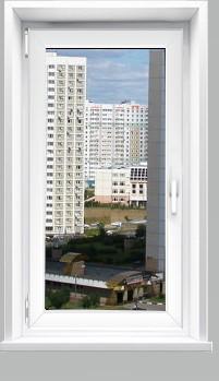Купить готовое одностворчатое окно в Москве и Московской области