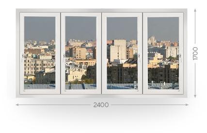 Остекление лоджии и балкона 2,4 метра в Москве и МО