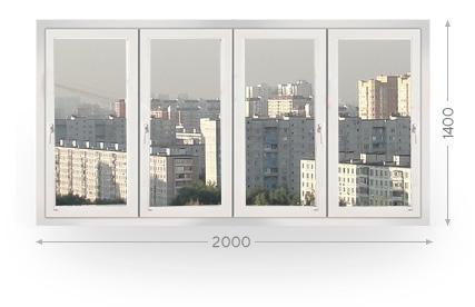 Остекление балконов и лоджий шириной 2 метра в Москве и МО
