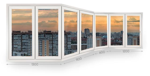Остекление эркерных балконов и лоджий в Москве и МО
