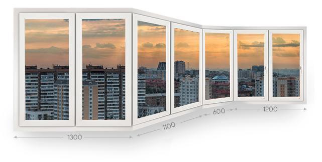 Остекление п-образных балконов и лоджий в Москве и МО