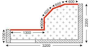Схема лоджии в домах серии Айсберг