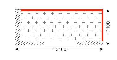 Схема лоджии в домах типа ГМС-3