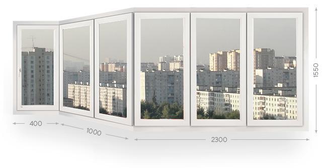 Остекление балконов и лоджий типа каблук в Москве и МО