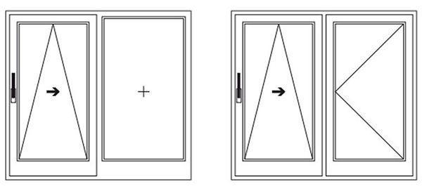 Схема открывания портального профиля