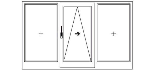 Открывание портальной оконной системы