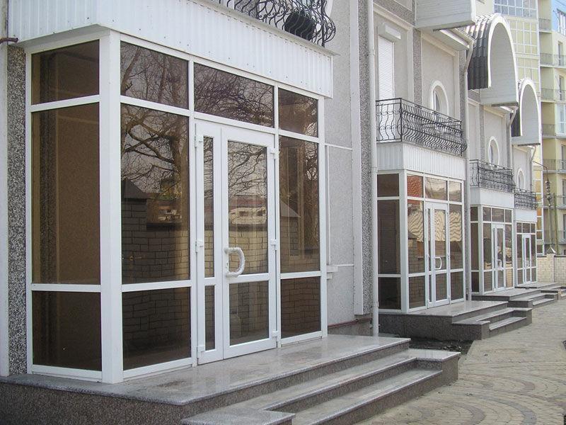 Двери входные из алюминиевого профиля заказать в Москве и Московской области