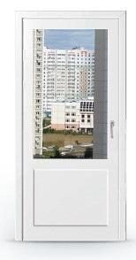 Заказать дверь ПВХ со стеклопакетом сверху