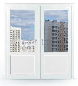 Заказать дверь двухстворчатую в Москве с заполнением снизу