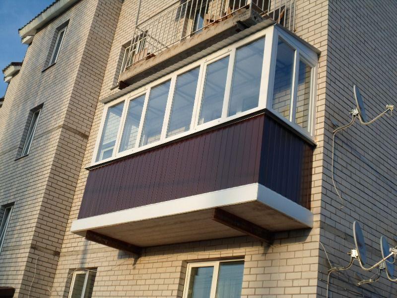 Наружная отделка парапета балкона и лоджии гофролистом