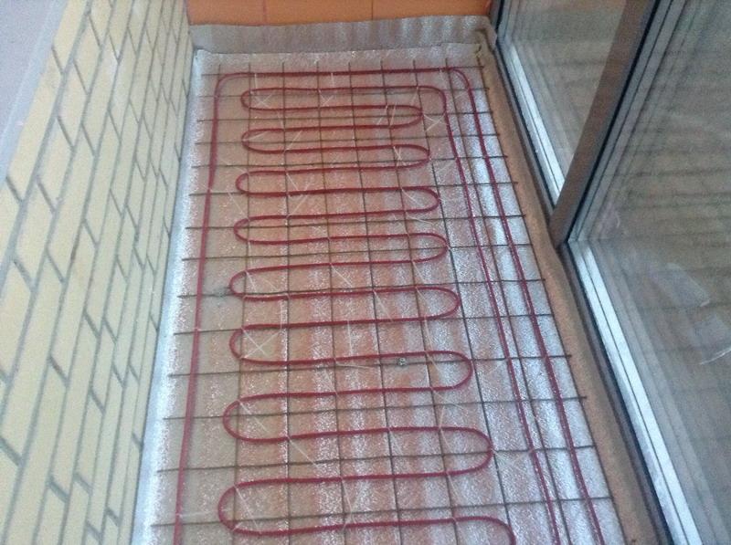 Монтаж электрического тёплого пола на лоджиях и балконах в Москве и МО