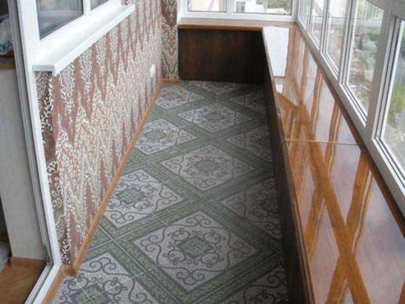 Покрытие кафельной плиткой пола на балконе и лоджии в Москве и Московской области