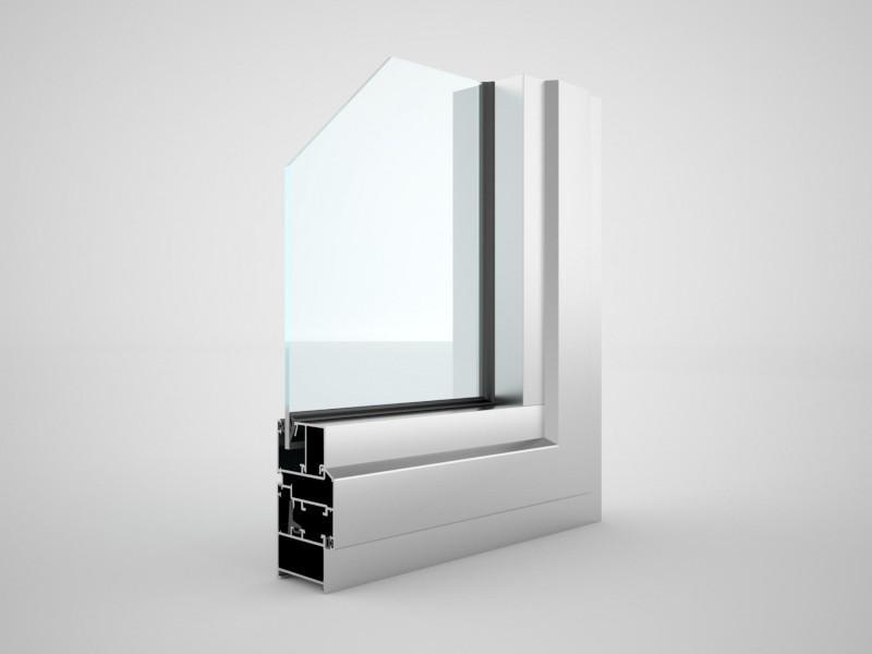 Фасадное остекление окнами Krauss KRWD-45