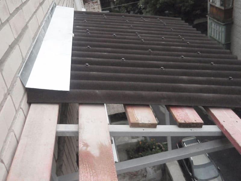 Кровля крыши на балконе и лоджии из ондулина в Москве и Московской области