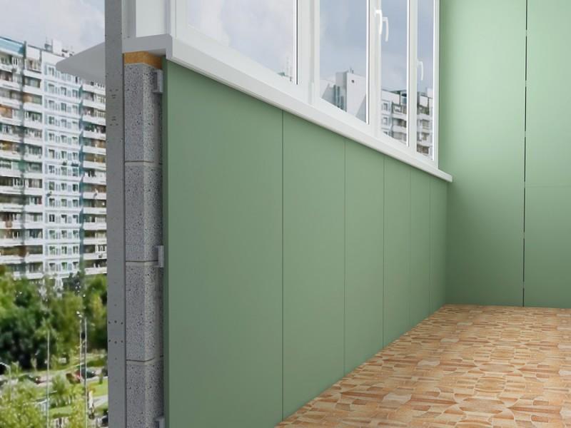 Отделка стен на балконах и лоджиях гипсокартоном в Москве и Московской области