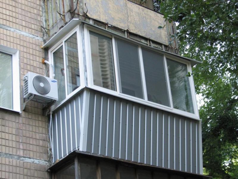 Отделка балконов и лоджий гофролистом снаружи